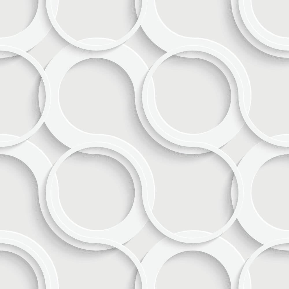 Papel de Parede Circles Clean
