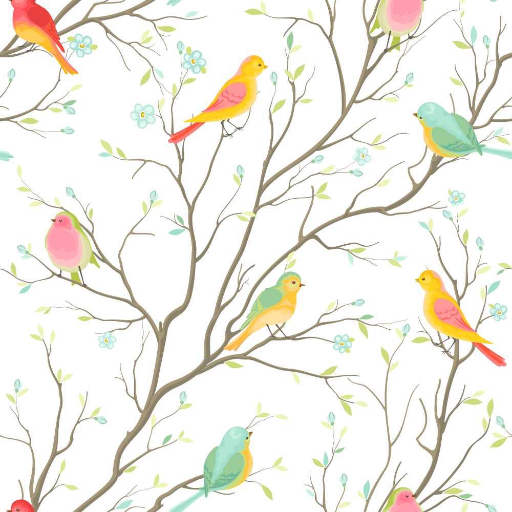 Papel de Parede Colored birds