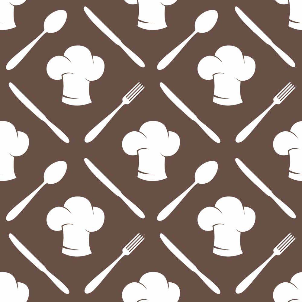 Papel de Parede Cooking Brown Clean