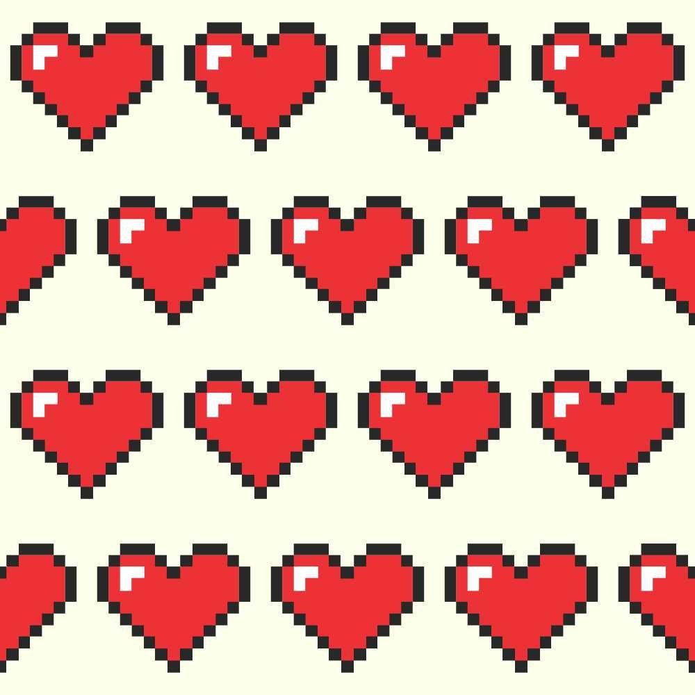 Papel de Parede Coração Pixel