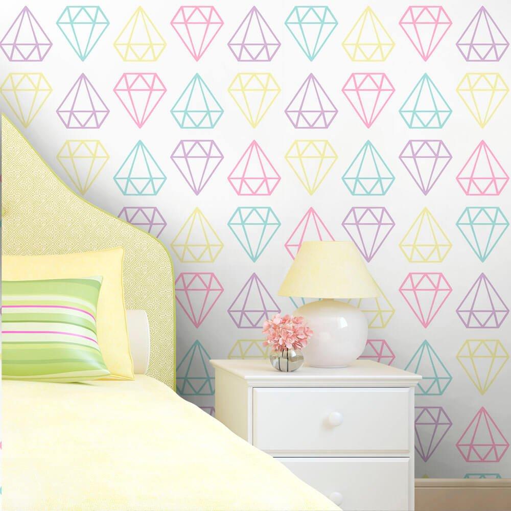 Papel de Parede Diamantes Color