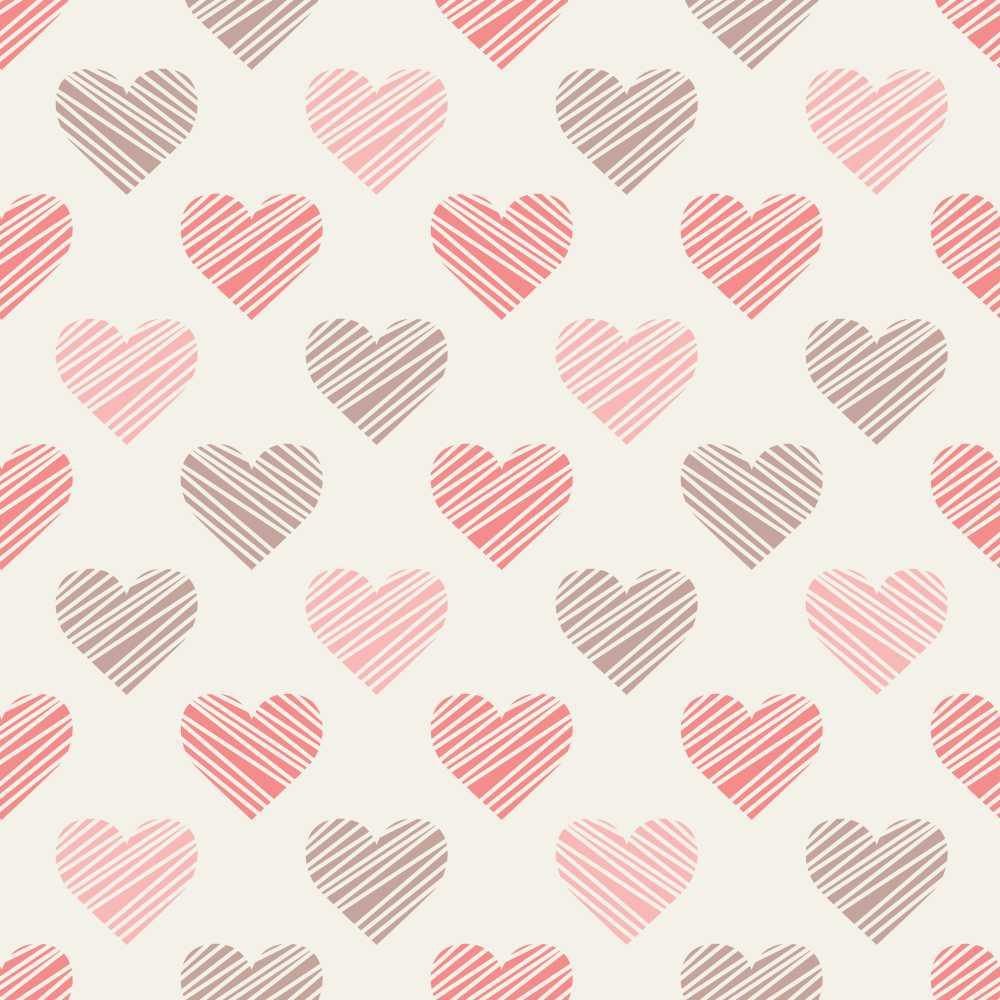 Papel de Parede Drawn hearts | QCola