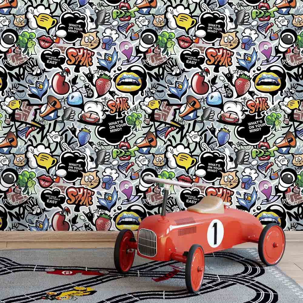 Papel de Parede Graffiti