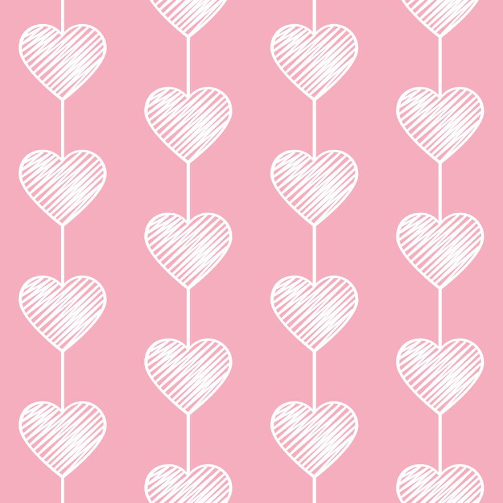 Papel de Parede Heart Curtain