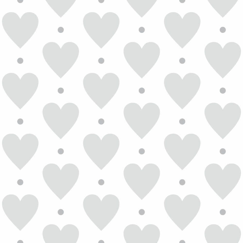 Papel de Parede Heart Point Gray