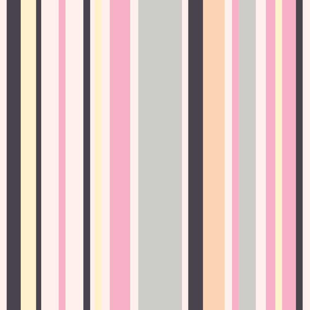 Papel de Parede Listras Girl Color