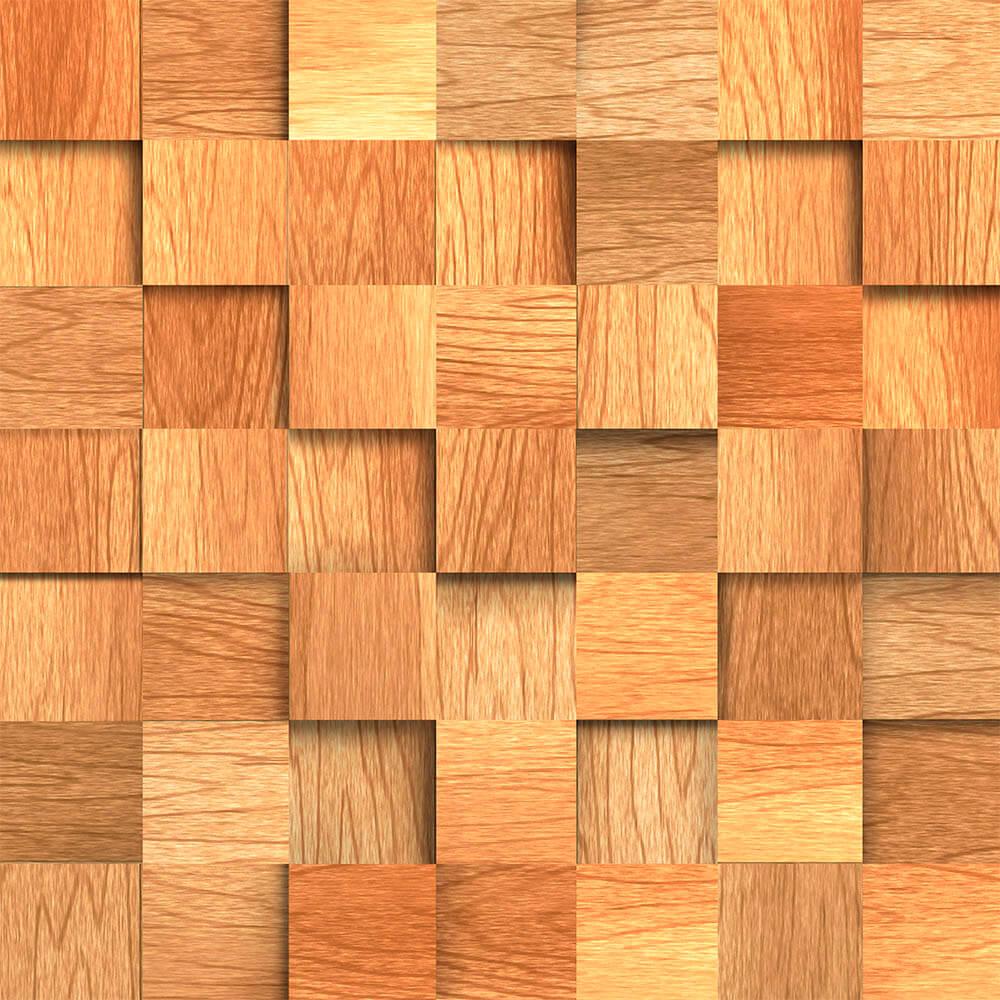 Papel De Parede Madeira Cubos R Stico Adesivos De Parede E Papel  -> Imagem Parede De Madeira