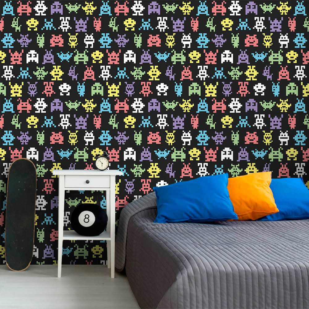 Papel de Parede Monsters Black