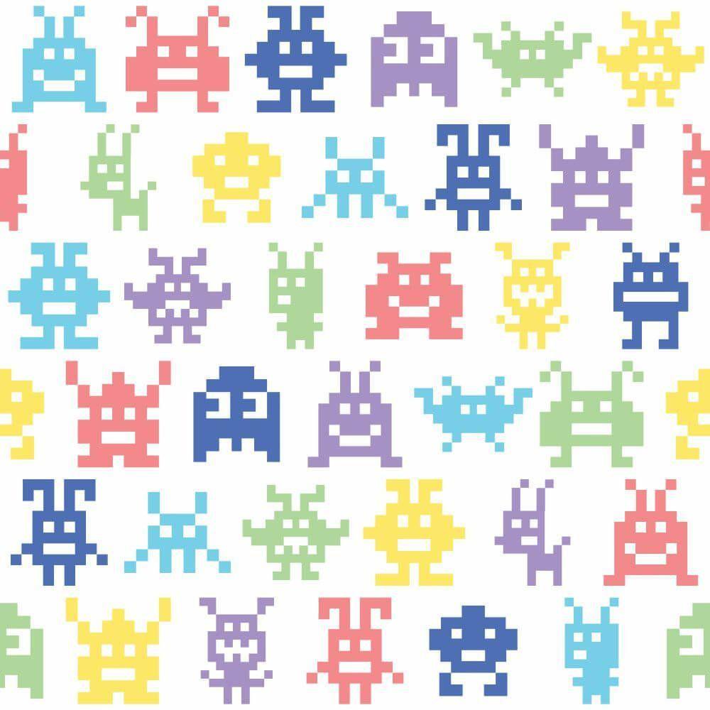 Papel de Parede Monsters Color