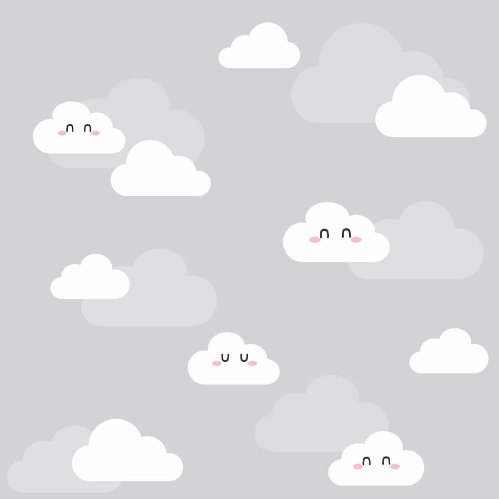 Papel de Parede Nuvens Clean