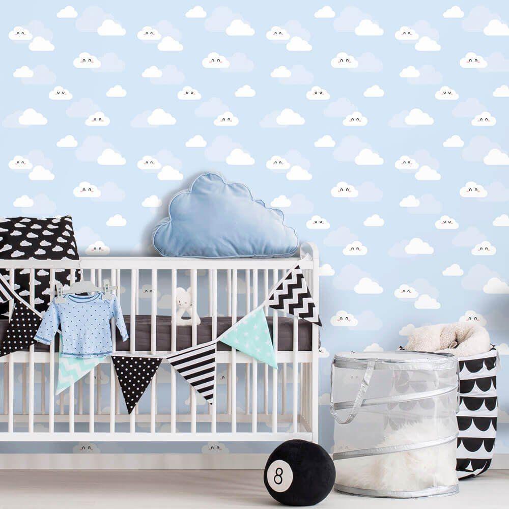 Papel de Parede Nuvens Clean Boy