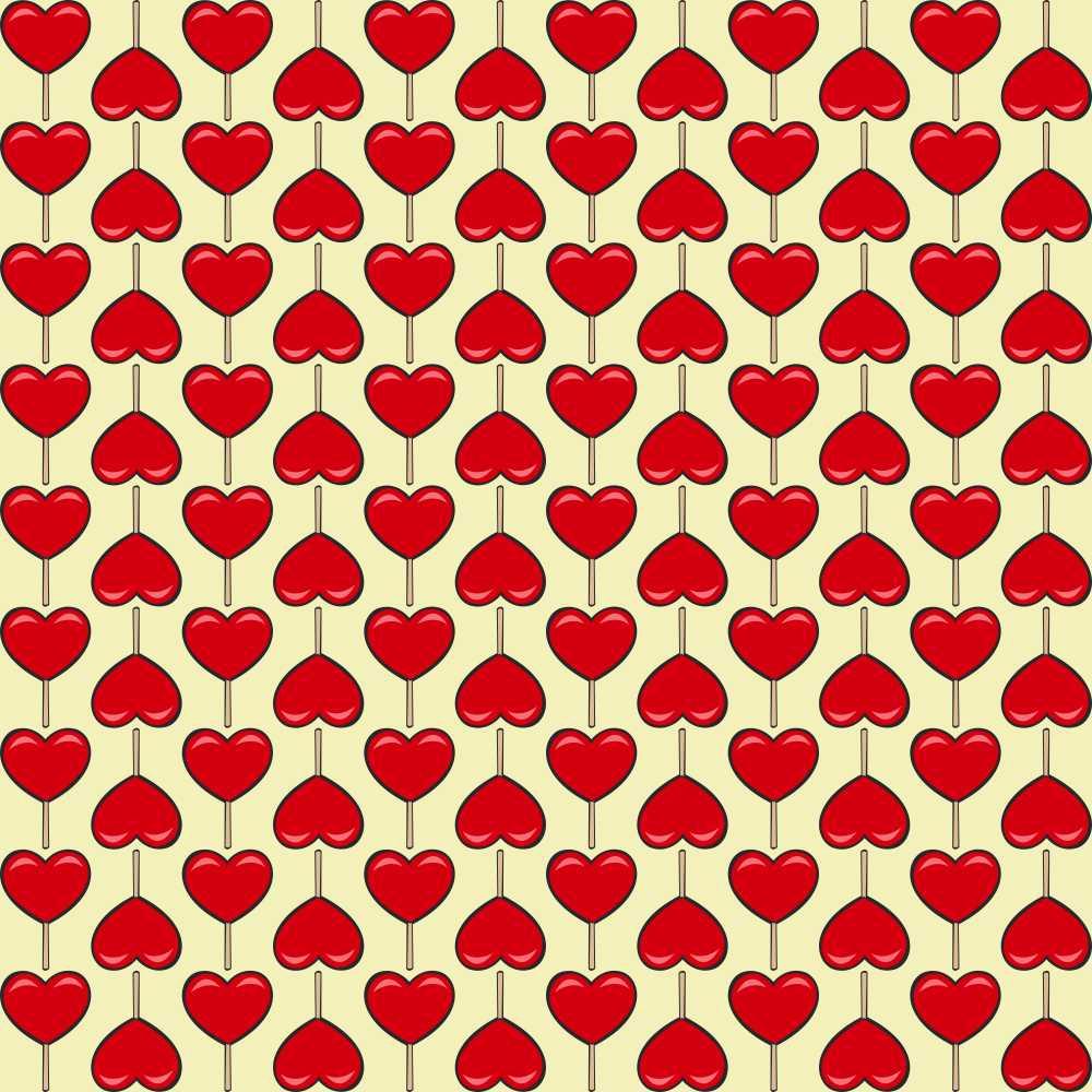 Papel de Parede Pirulitos de Coração
