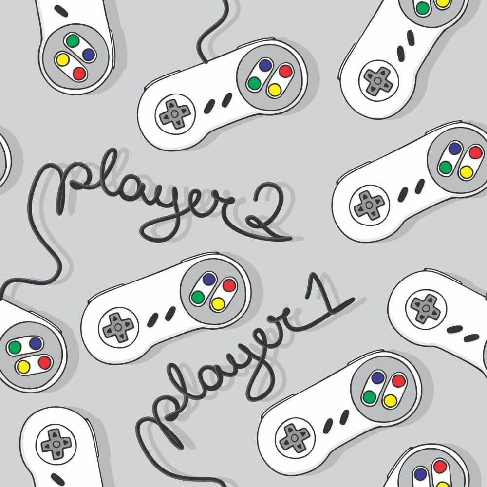 Papel de Parede Players Gray