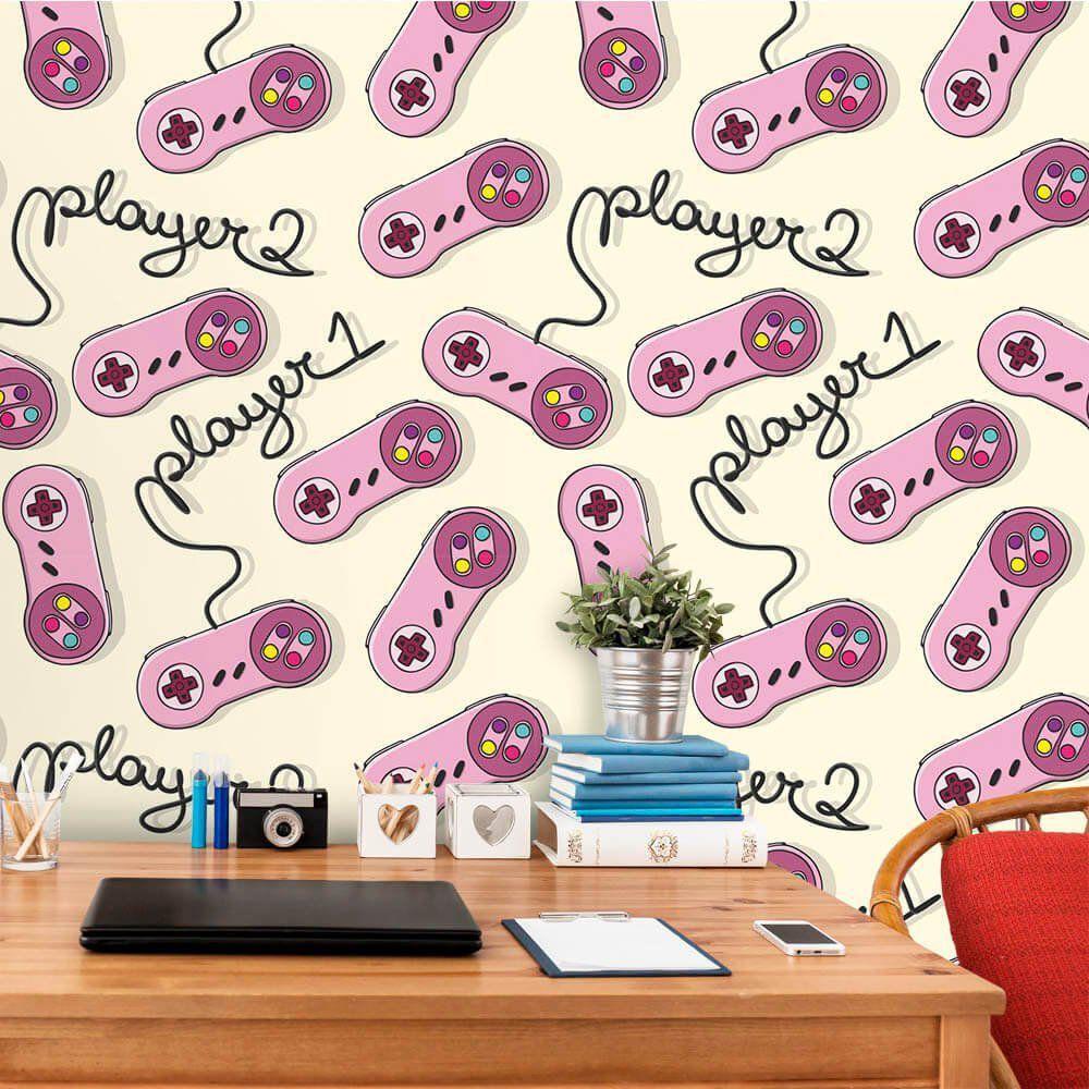 Papel de Parede Players Pink