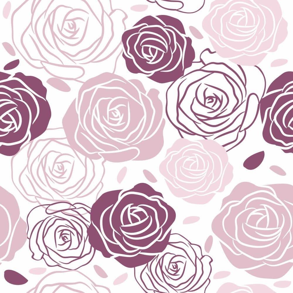 Papel de Parede Rosas Arlinda