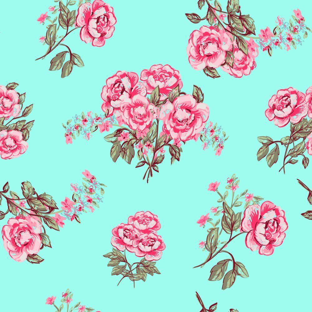 Papel de Parede Rose Vintage