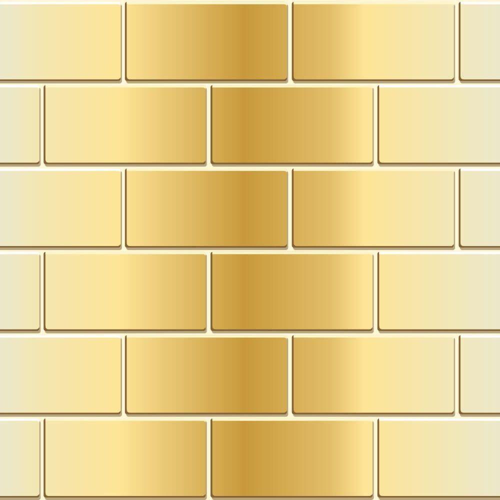 Papel de Parede Tijolo Metálico Gold