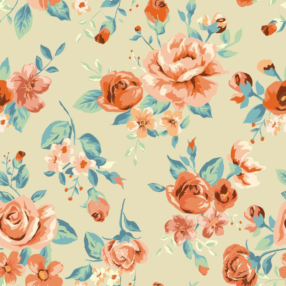 Papel de Parede Tropical Flower