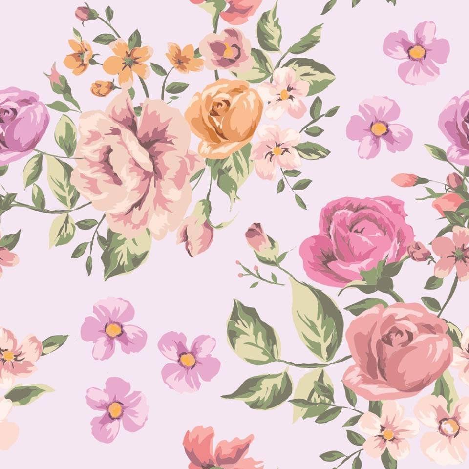 Papel de Parede Vintage Roses