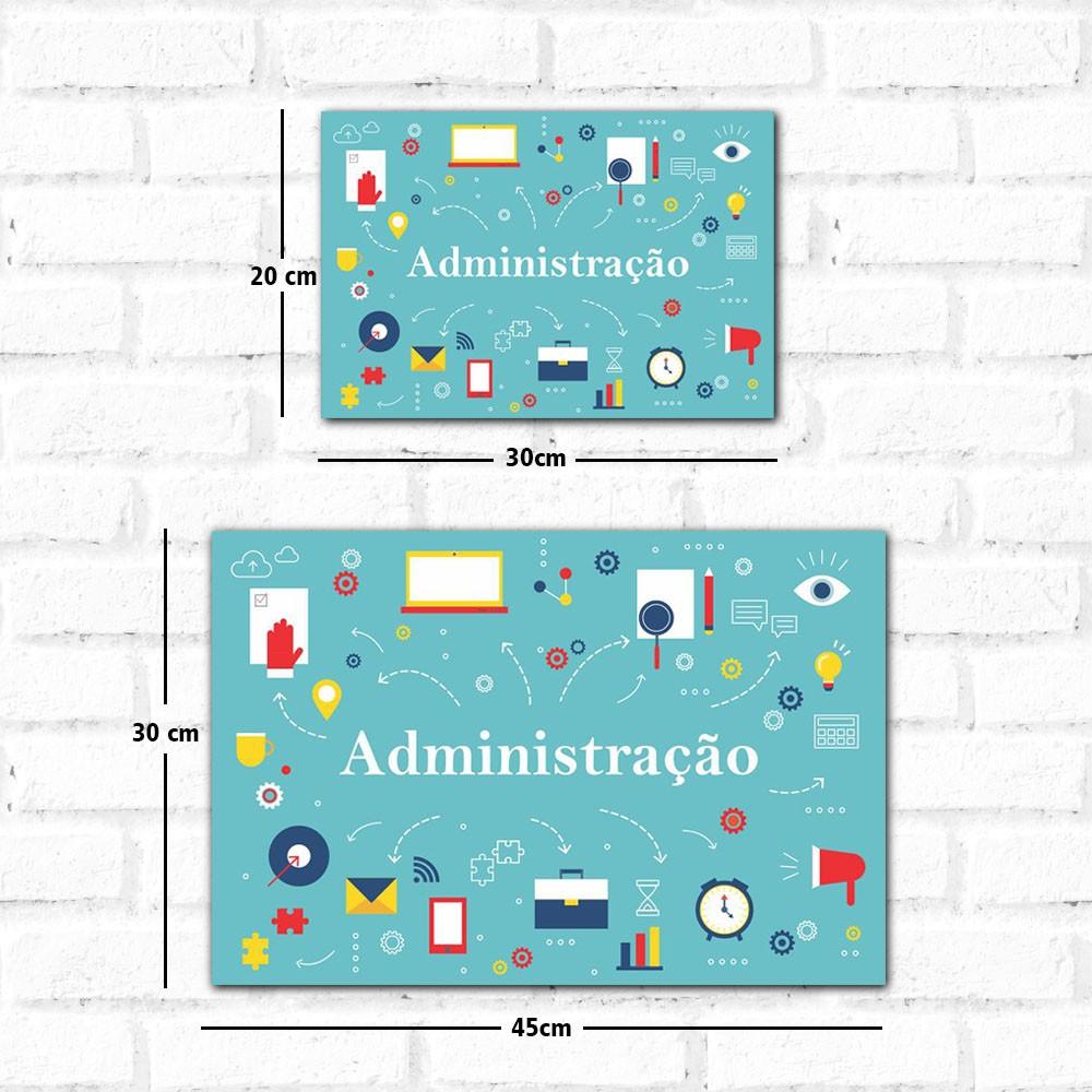 Placa Decorativa Administração
