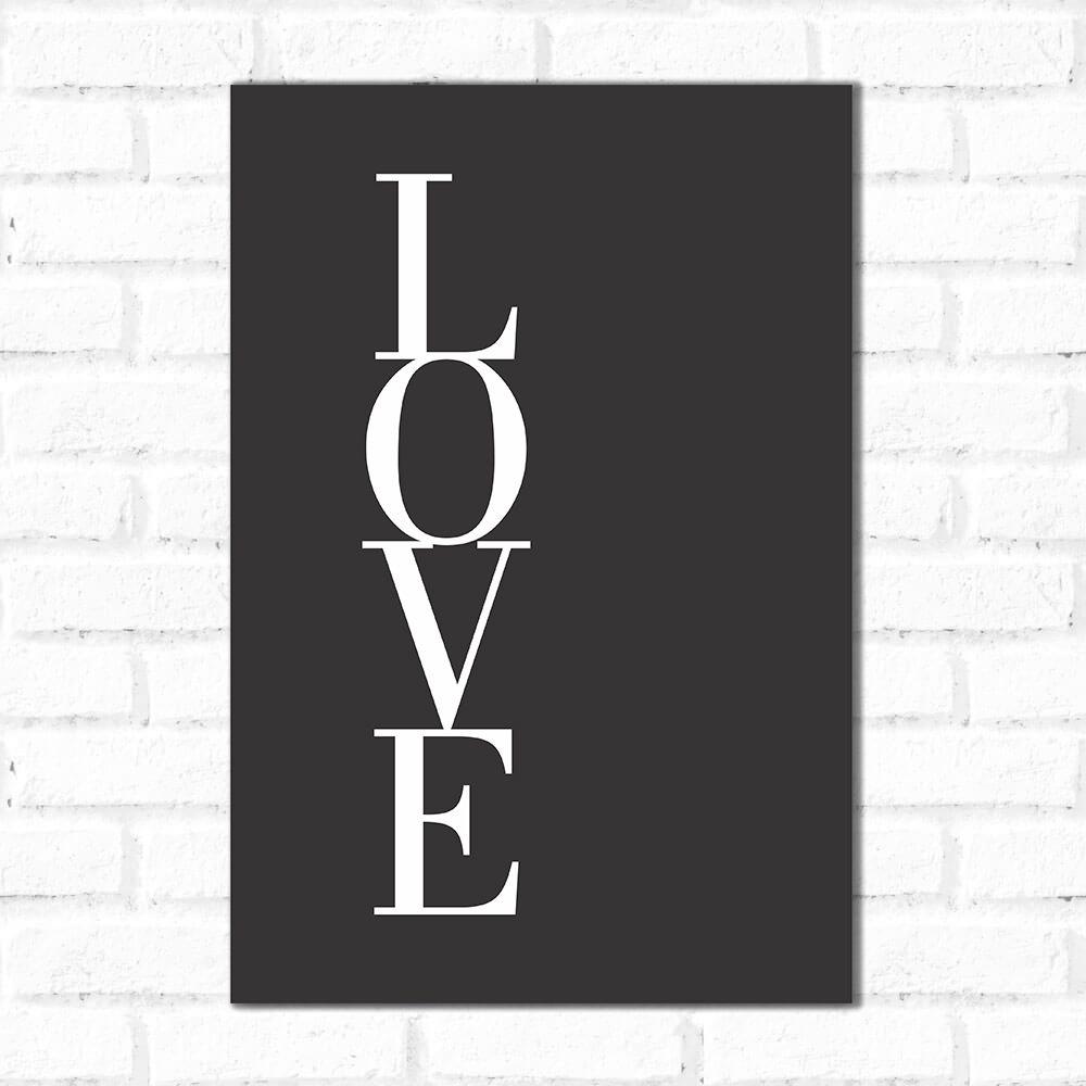 Placa Decorativa Amor Alinhado