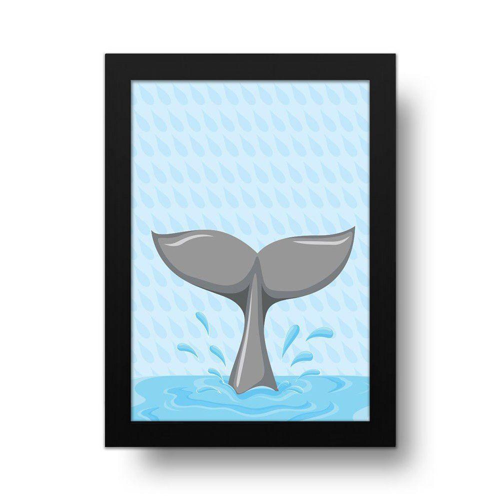 Placa Decorativa Baleia