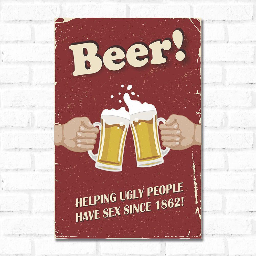 Placa Decorativa Beer Retro