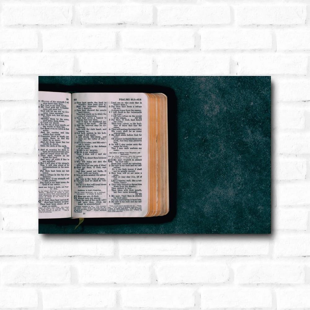 Placa Decorativa Bíblia