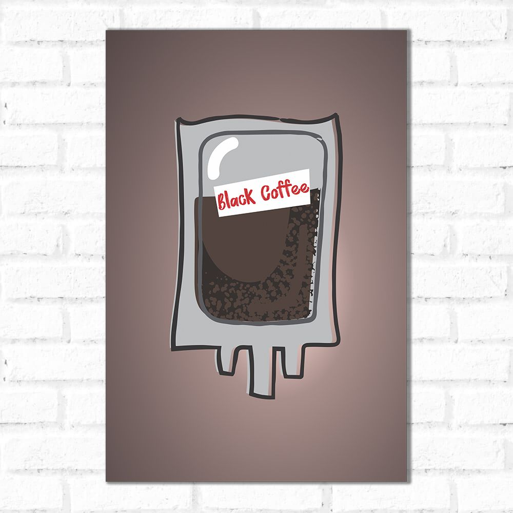 Placa Decorativa Black Coffee