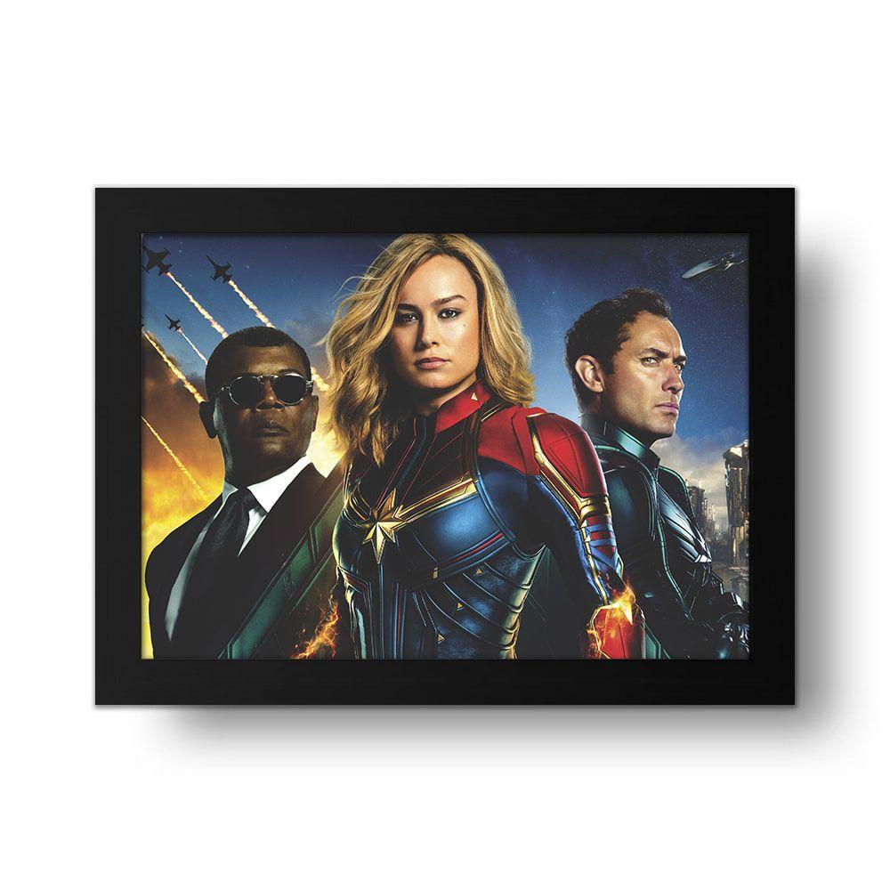 Placa Decorativa Capitã Marvel