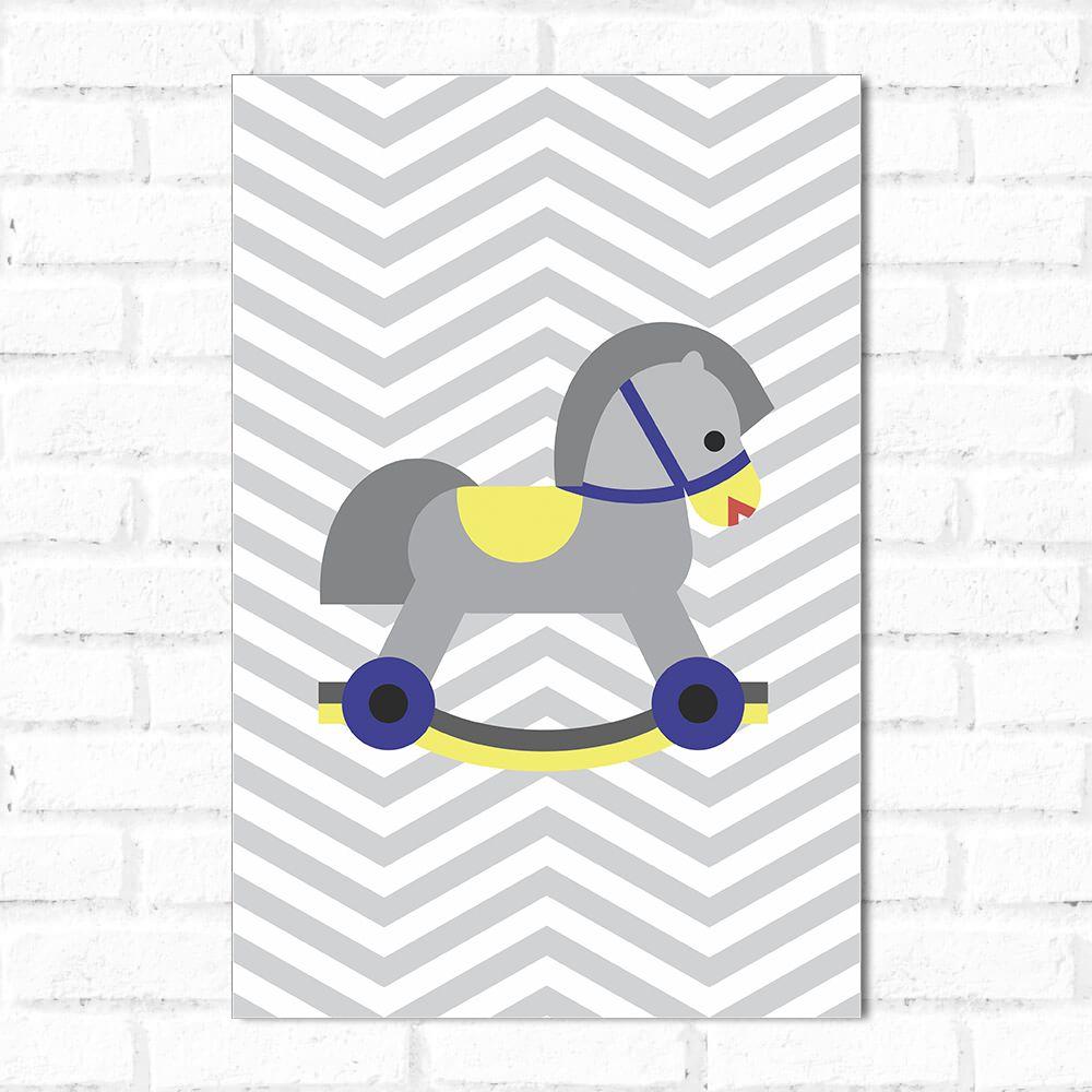 Placa Decorativa Cavalinho Chevron