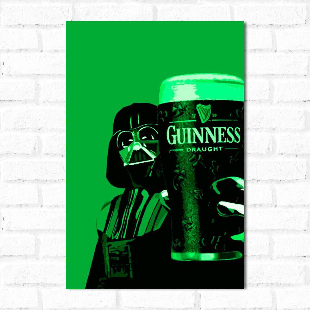 Placa Decorativa Darth Vader Guinness