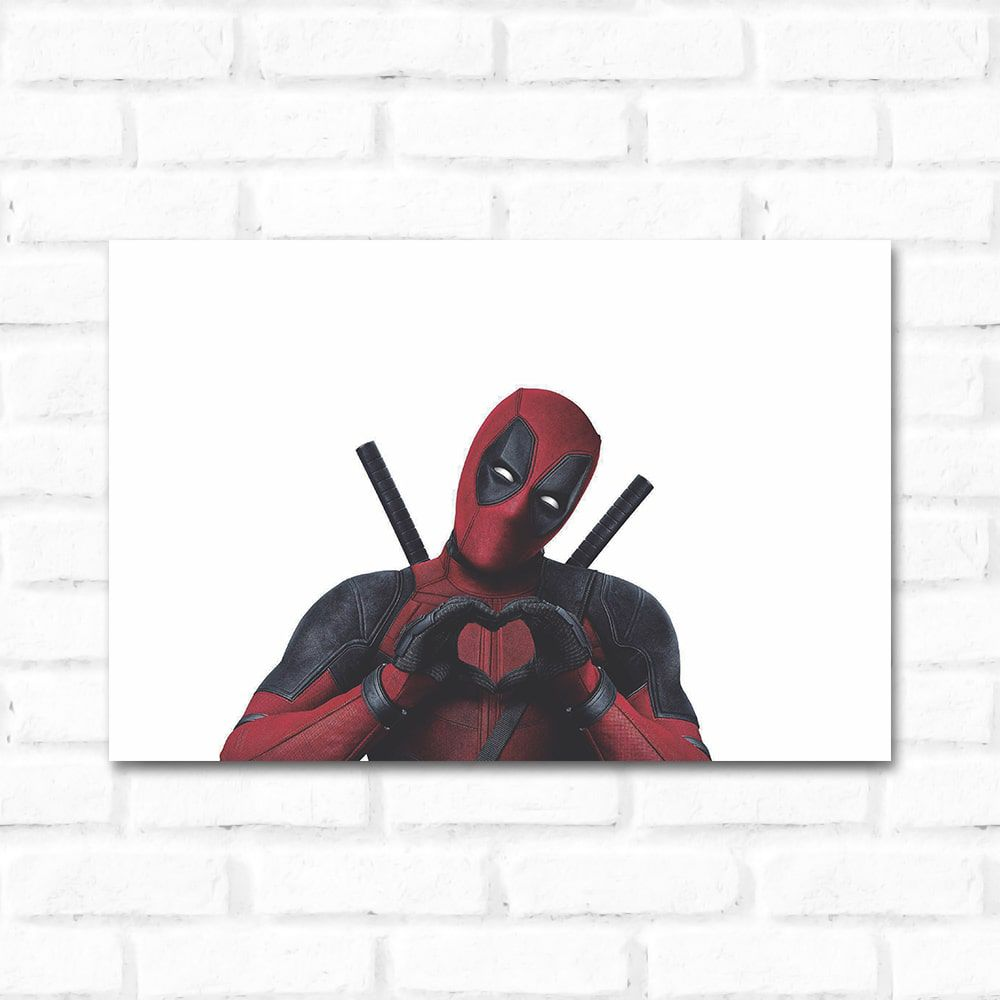 Placa Decorativa Deadpool 1
