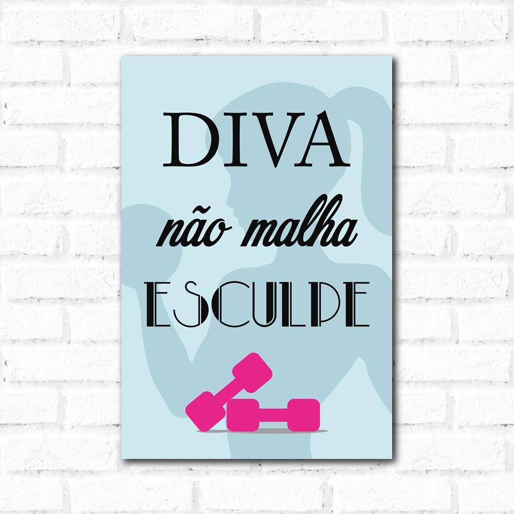 Placa Decorativa Diva