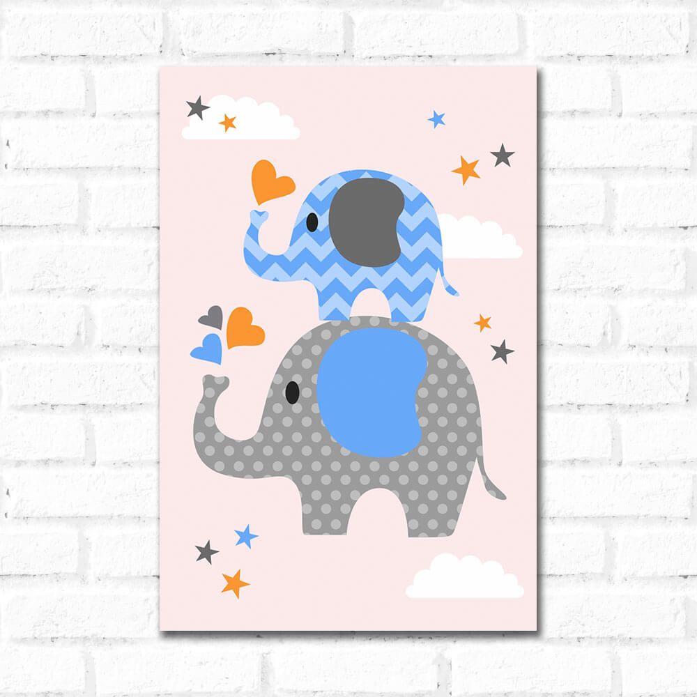 Placa Decorativa Elefante Filhote