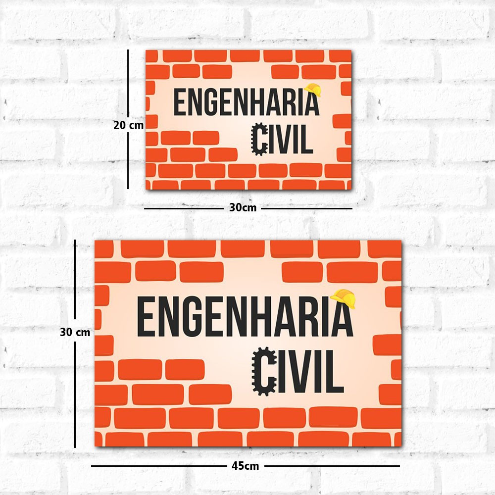 Placa Decorativa Engenharia Civil