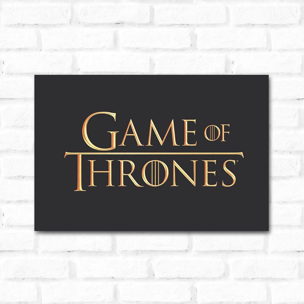 Placa Decorativa Game Of Thrones