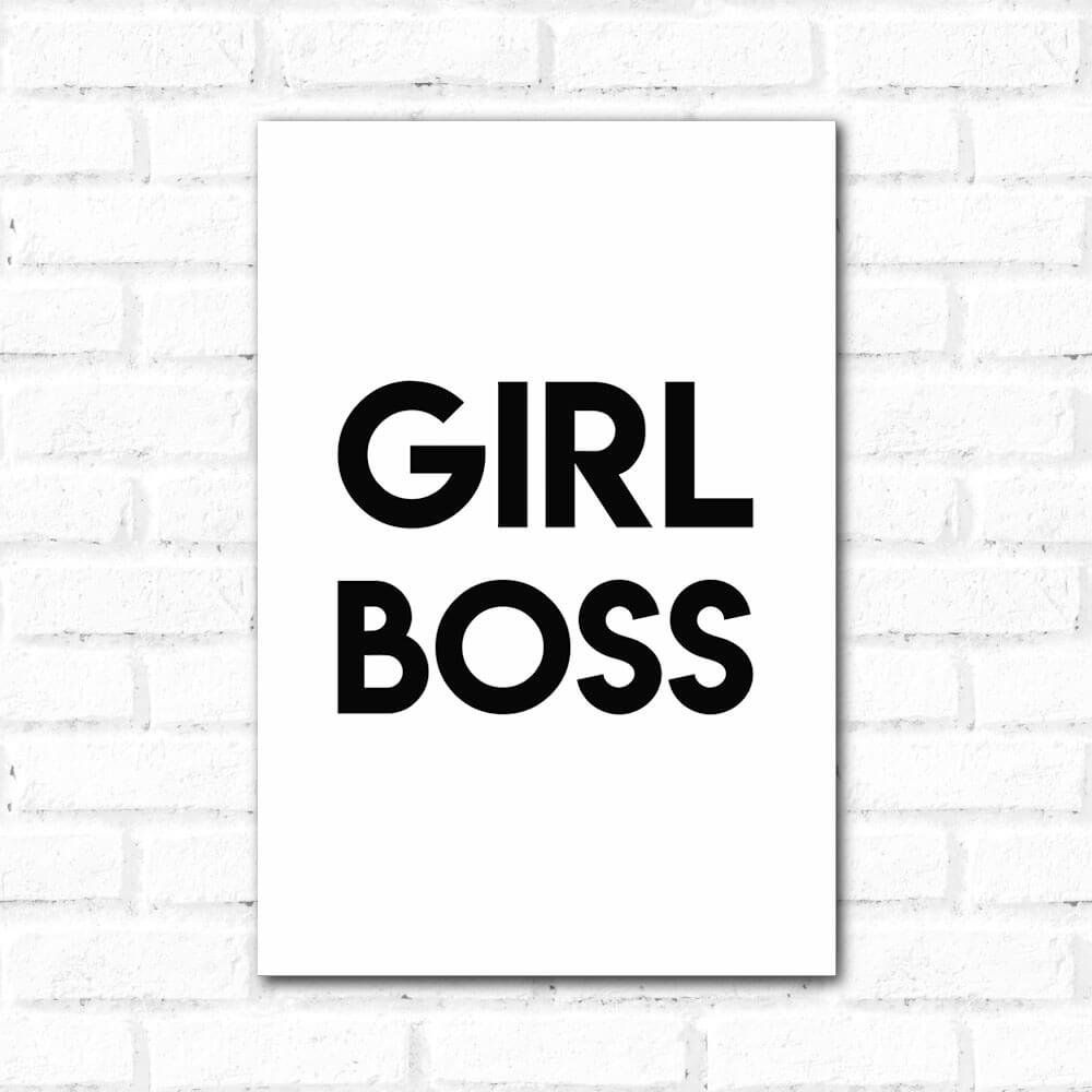 Placa Decorativa Girl Boss