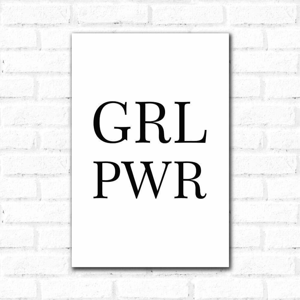 Placa Decorativa Girl Power