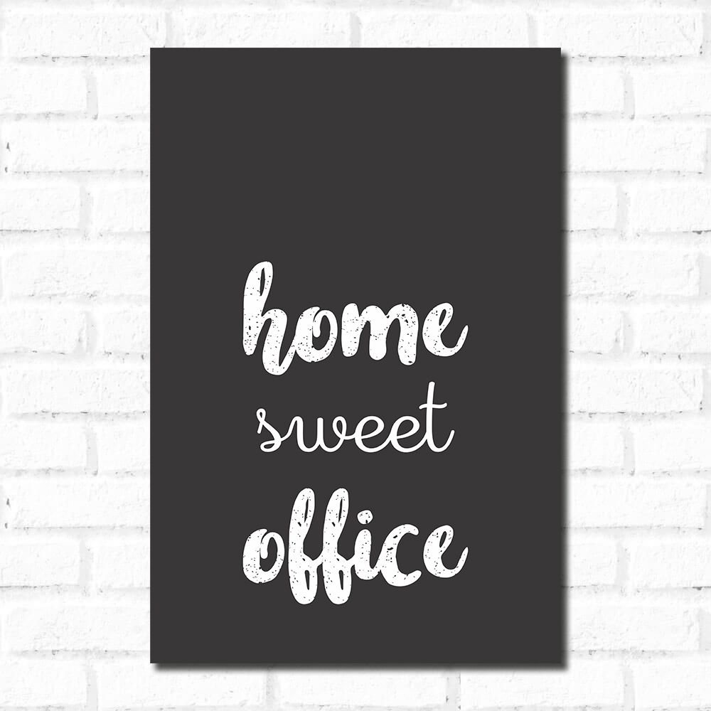 Placa Decorativa Home Office