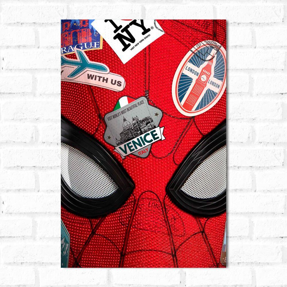 Placa Decorativa Homem Aranha Longe de Casa