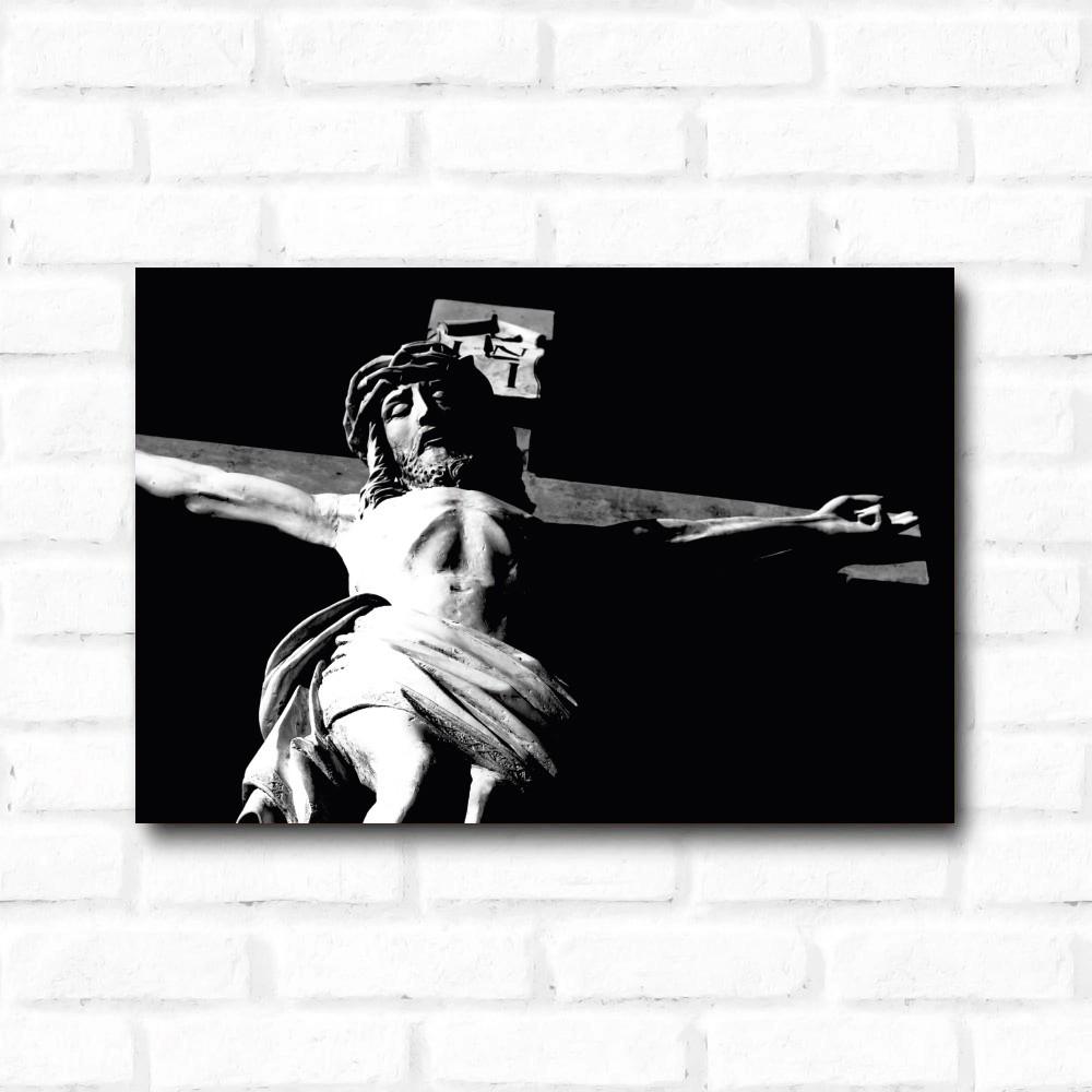 Placa Decorativa Jesus na Cruz
