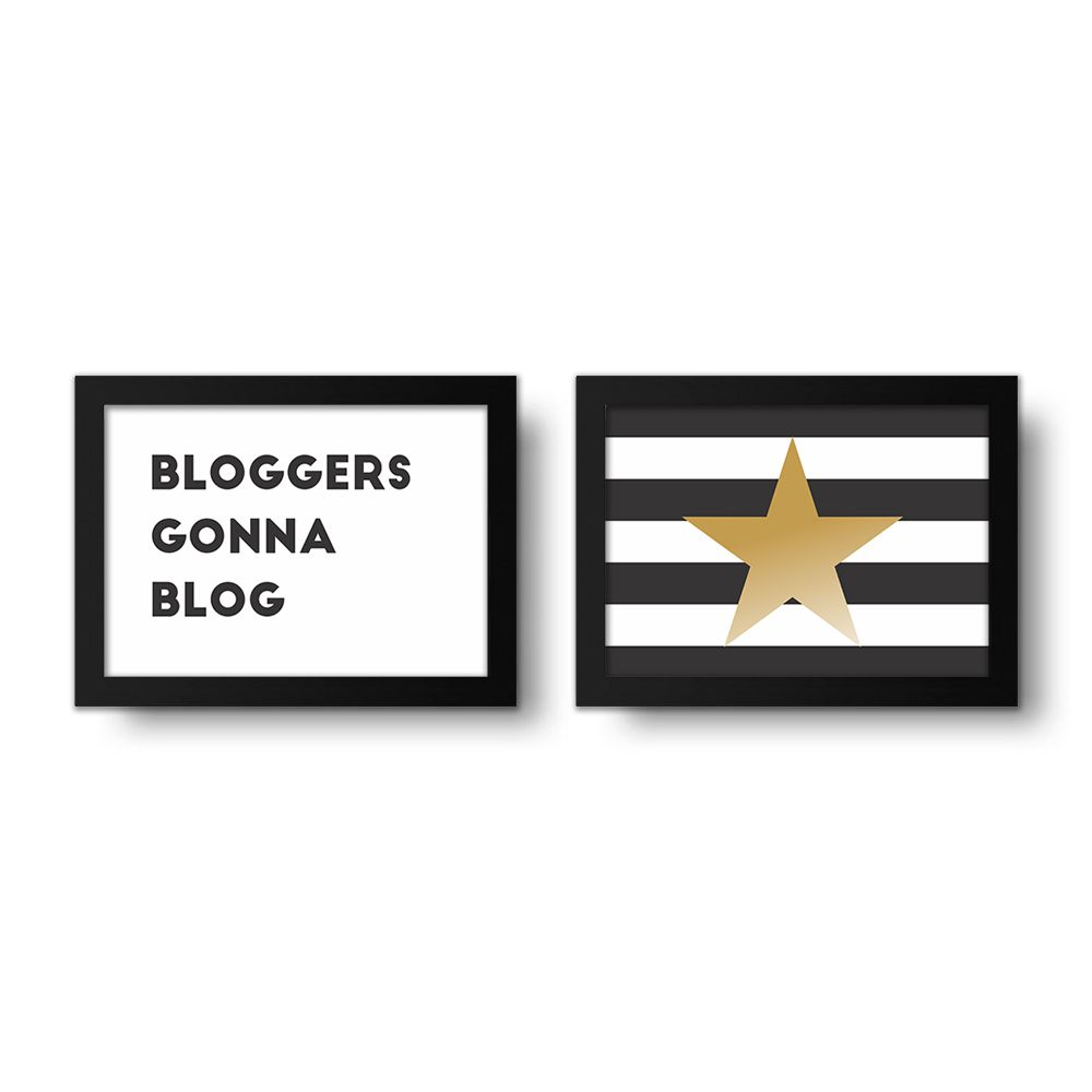 Placa Decorativa Kit Blogers Gonna Blog