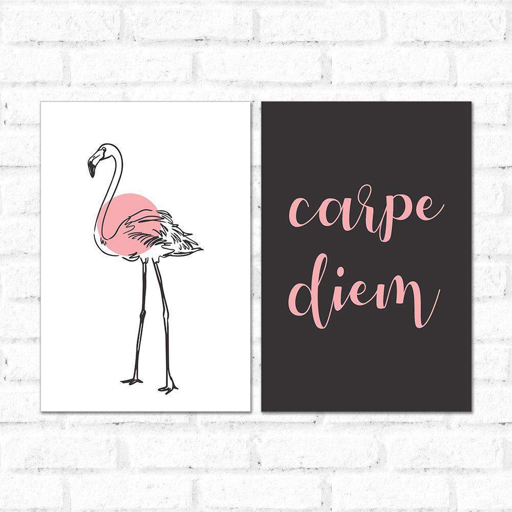 Placa Decorativa Kit Carpe Diem
