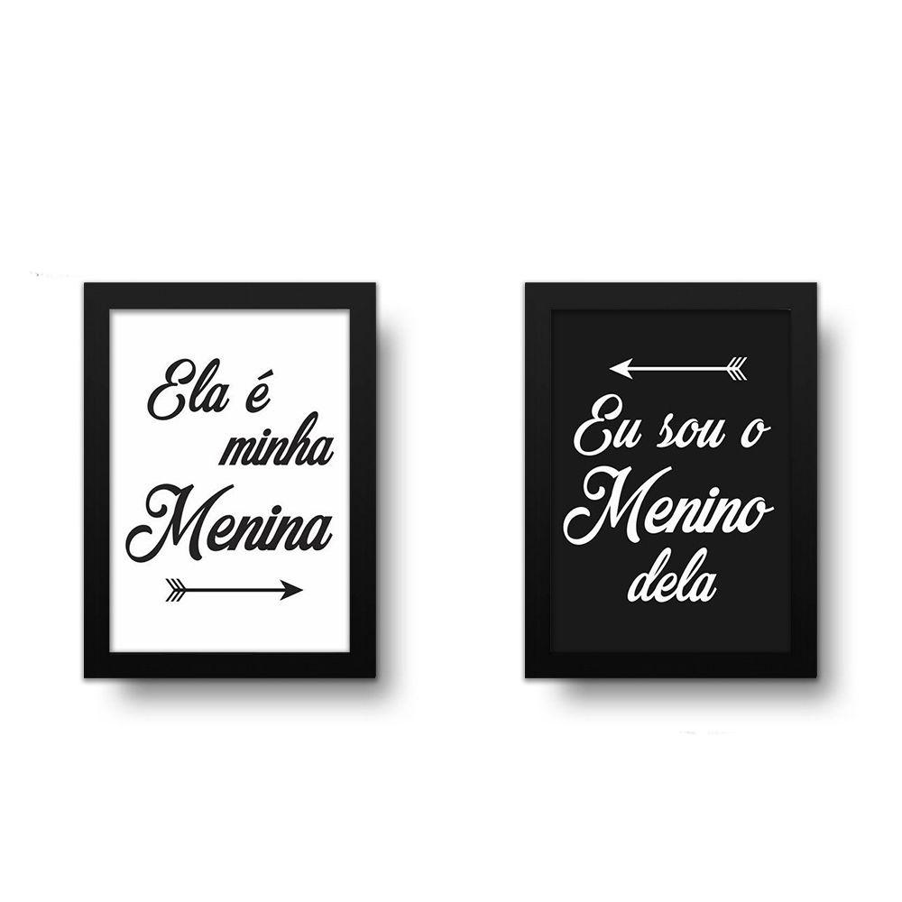 Placa Decorativa Kit Minha Menina