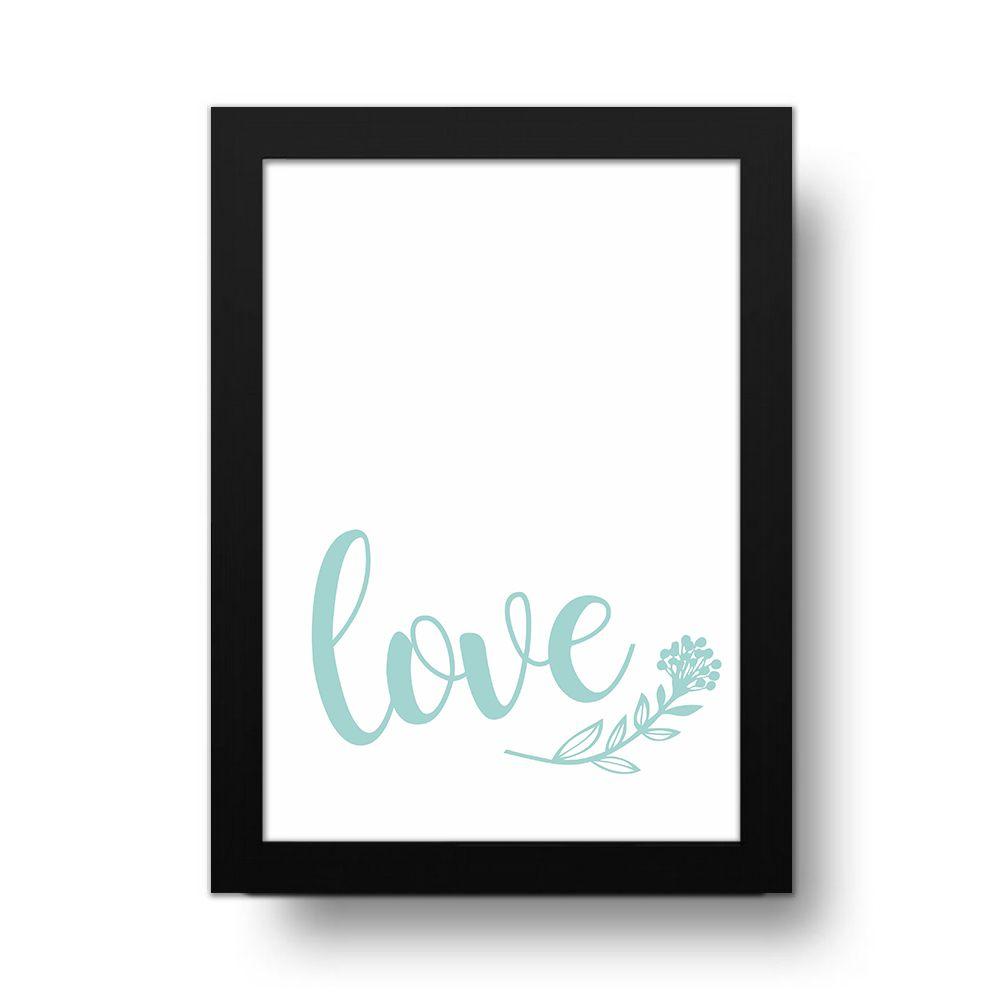 Placa Decorativa love Hearts Clean