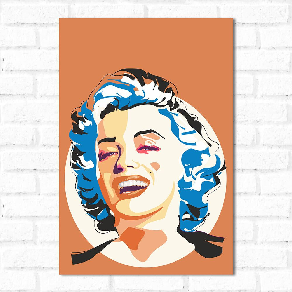 Placa Decorativa Marilyn Monroe Pop Art