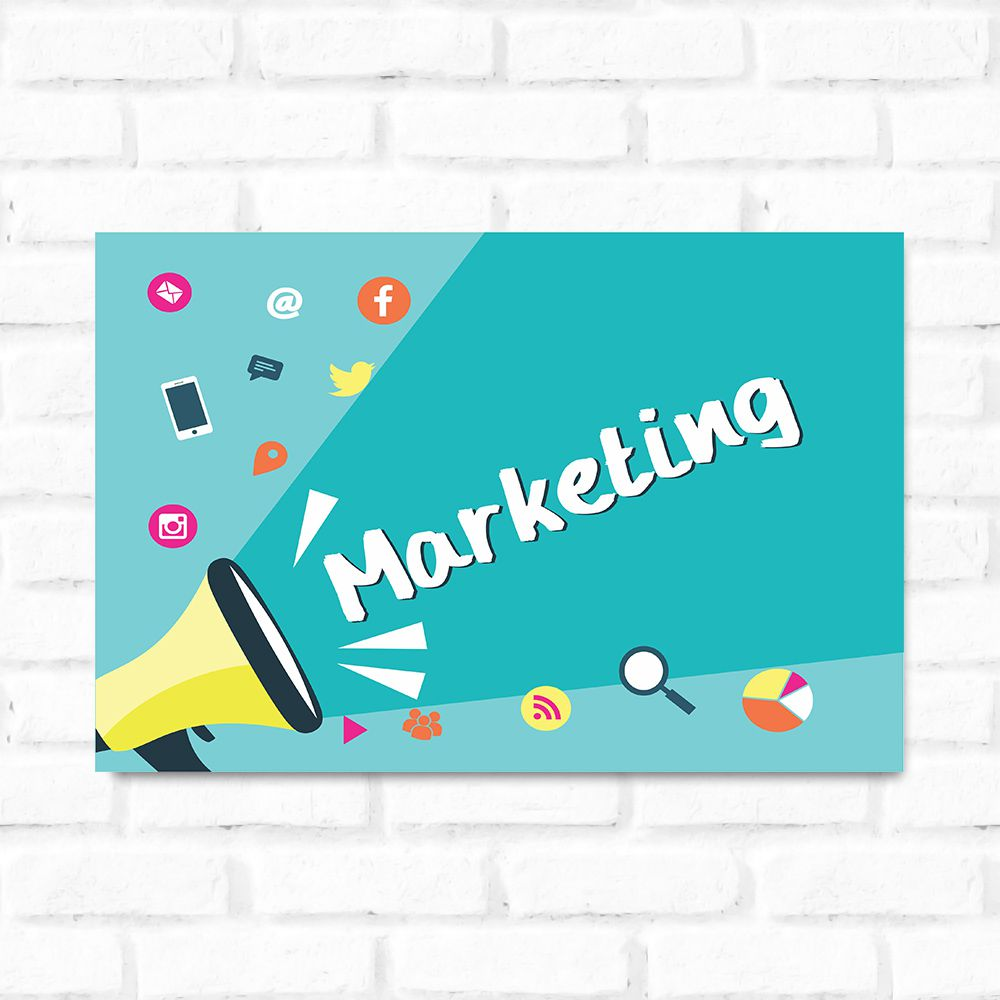Placa Decorativa Marketing