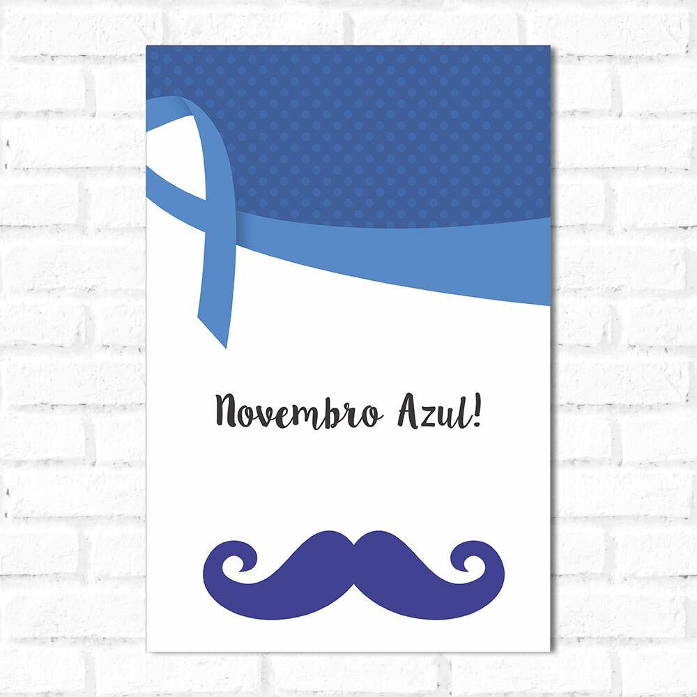 Placa Decorativa Novembro Azul