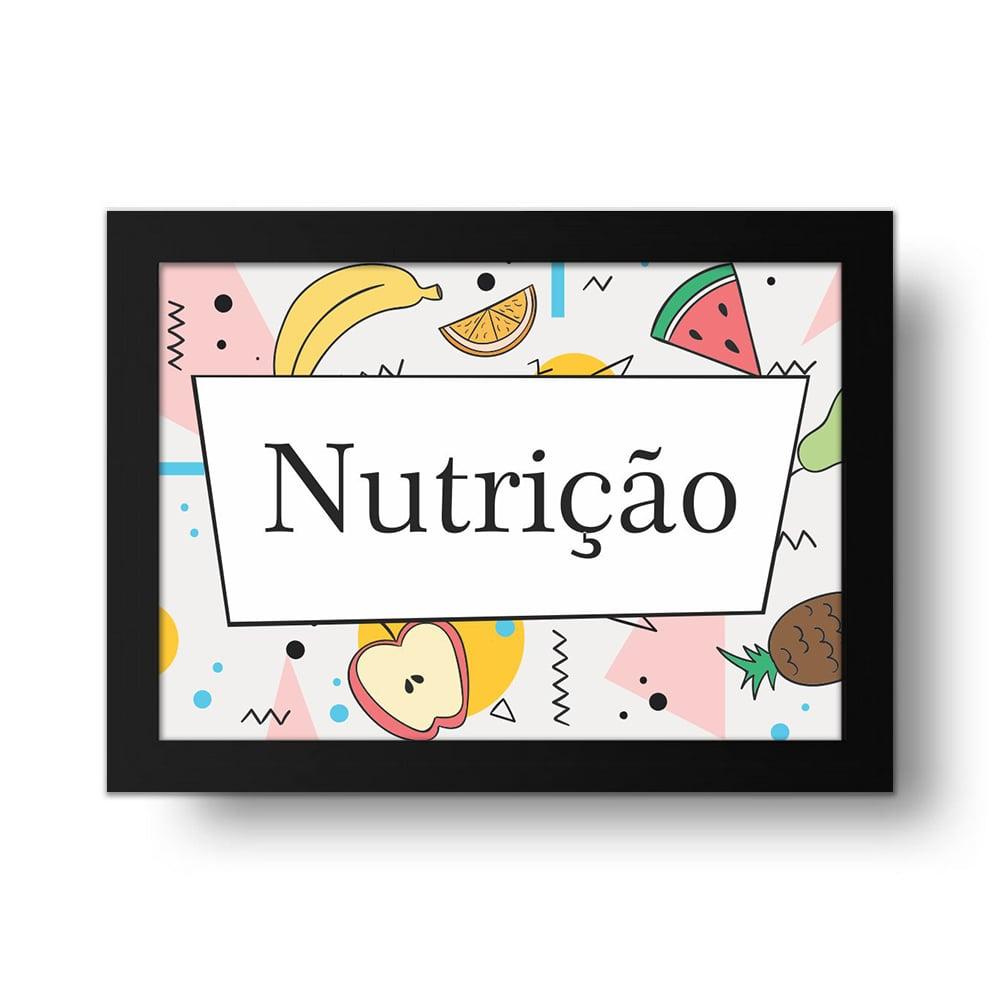 Placa Decorativa Nutrição
